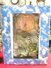 New Zebra  Mantel/ Shelf Clock  New With Box Quartz