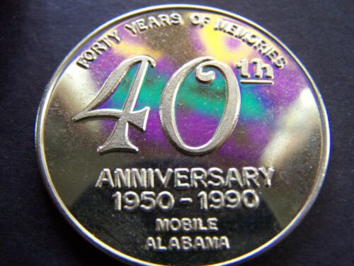 Details about  /1990 Etruscans 40th Anniversary Gold-Plated Bronze Mardi Gras Doubloon