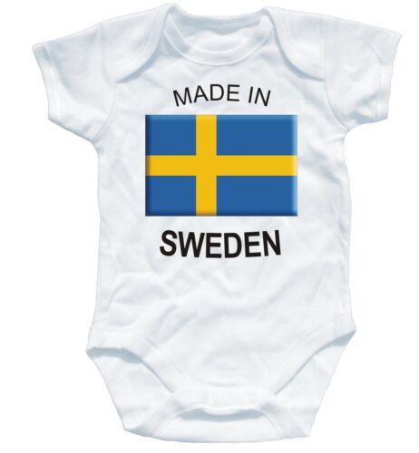 Naughtees Clothing Strampler Made in Sweden Weiß Baumwolle Säugling Baby Anzug