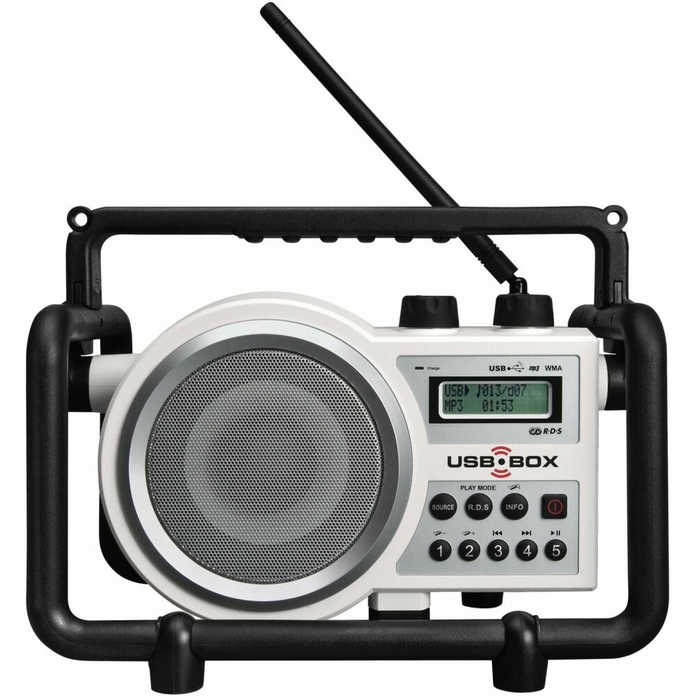BAUSTELLENRADIO HANDWERKER-RADIO OUTDOOR BAURADIO MP3 UKW PERFECT PRO USB-BOX