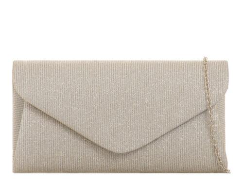 Donna Scintillante Pochette da sposa formale party bag Purse Handbag Wallet KH2068