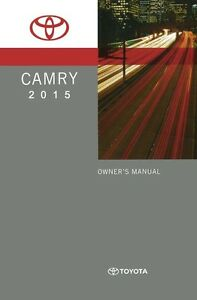 2015 toyota camry owners manual user guide reference operator book ebay. Black Bedroom Furniture Sets. Home Design Ideas