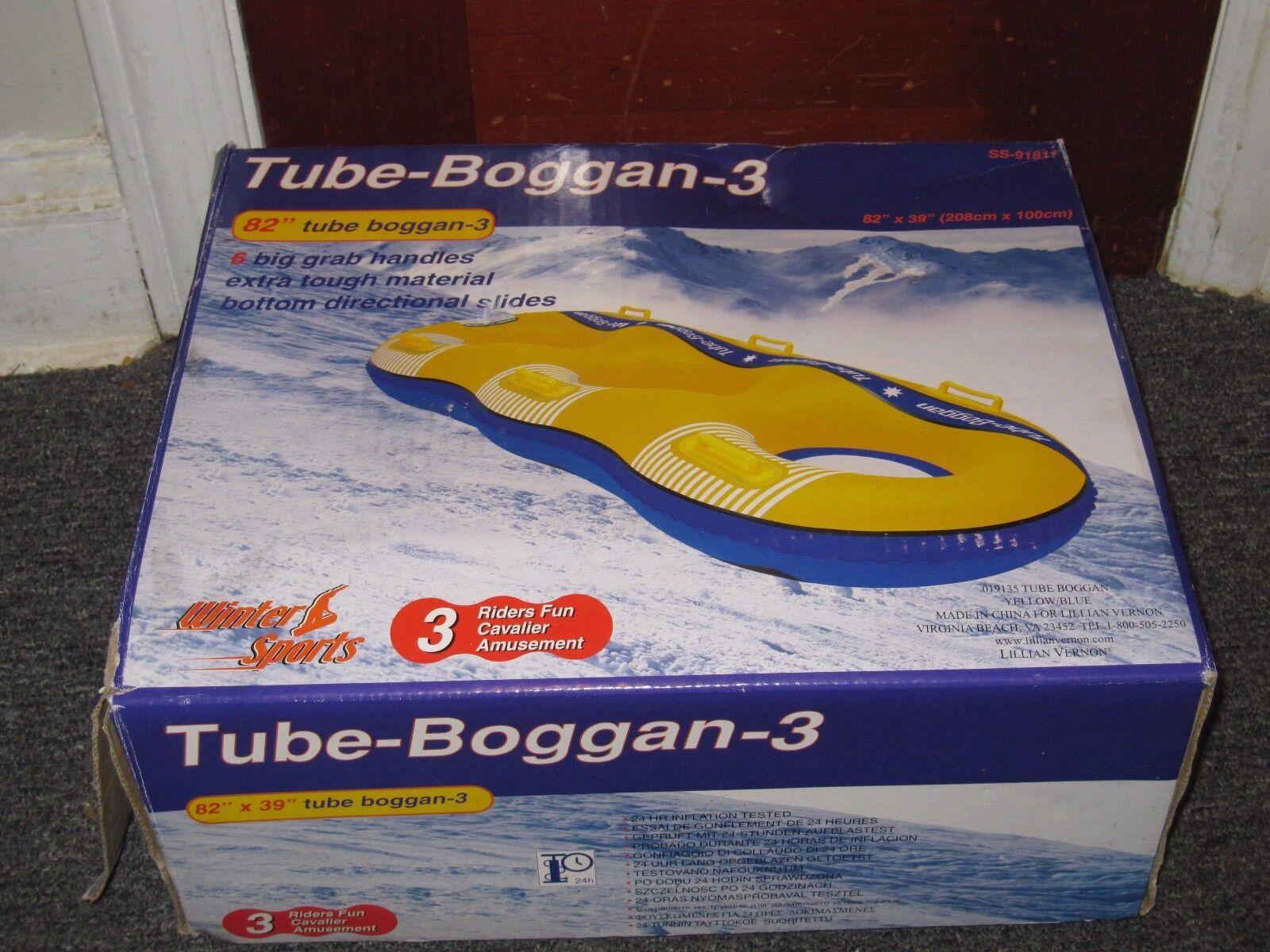 Tube-Boggan-3 82  Three person toboggan NEW