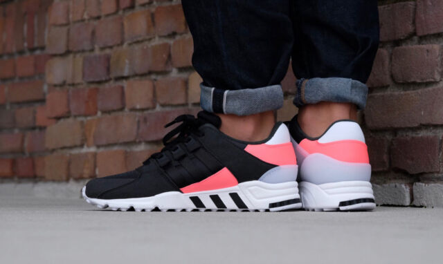 new arrival 823a9 6b98f Adidas Mens EQT Support RF Trainers Shoes BB1319 Black/White/Pink UK 6.5,  11.5