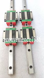 2 sets HGR25-1500mm Hiwin Linear rail /& 4 pcs HGH25CA Block Bearing
