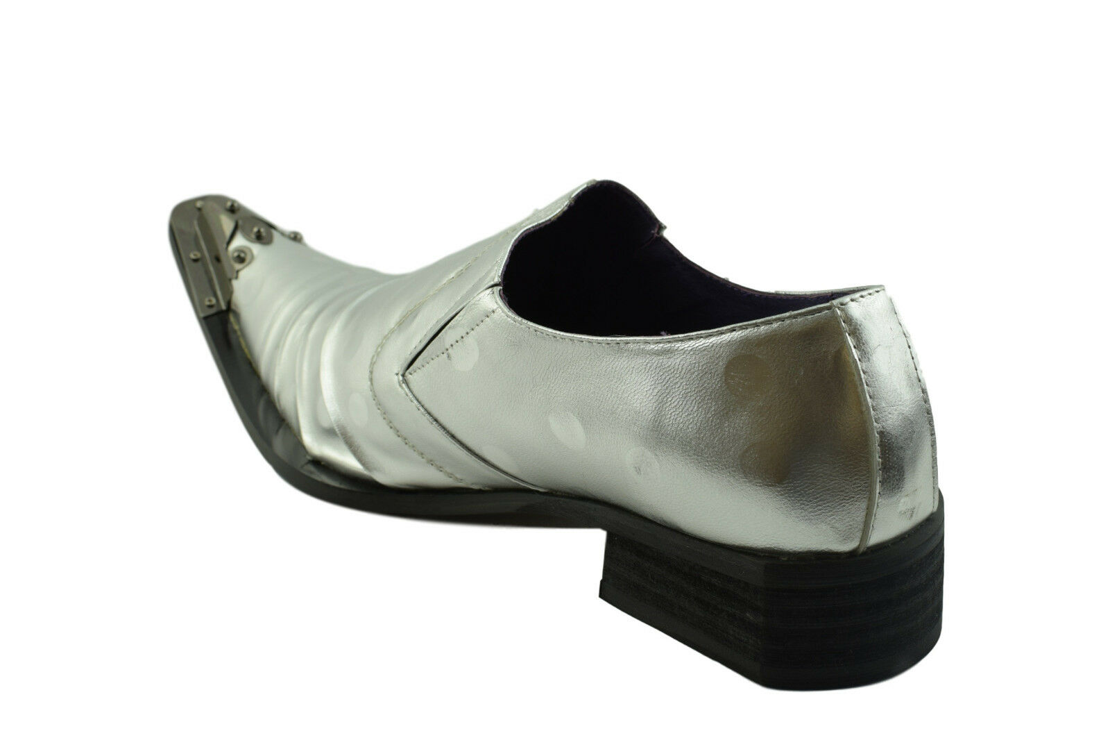 Gucinari Adillo Silver Leather Mens Steel Toe Cap Slip On