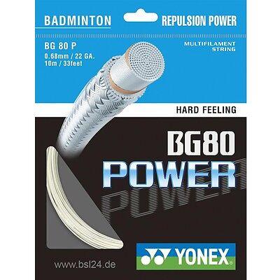 Badminton neu- Yonex Bg 80 Power Saiten Set 10m 0,68mm Durchmesser Für Eine Bespannung