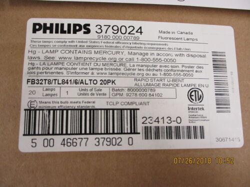 379024 Philips 2 Watt 22 7/16 4100K 6 Spaced Medium Bipin BRAND NEW! PACK OF 20