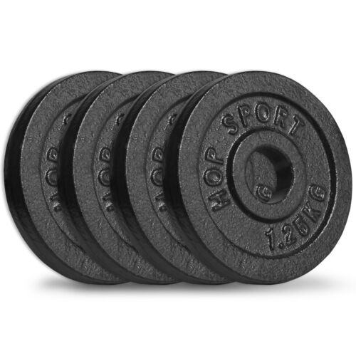 5 kg Hantelscheiben 4x1,25 kg Guss Gewichte 30//31 mm Hanteln Scheiben Set