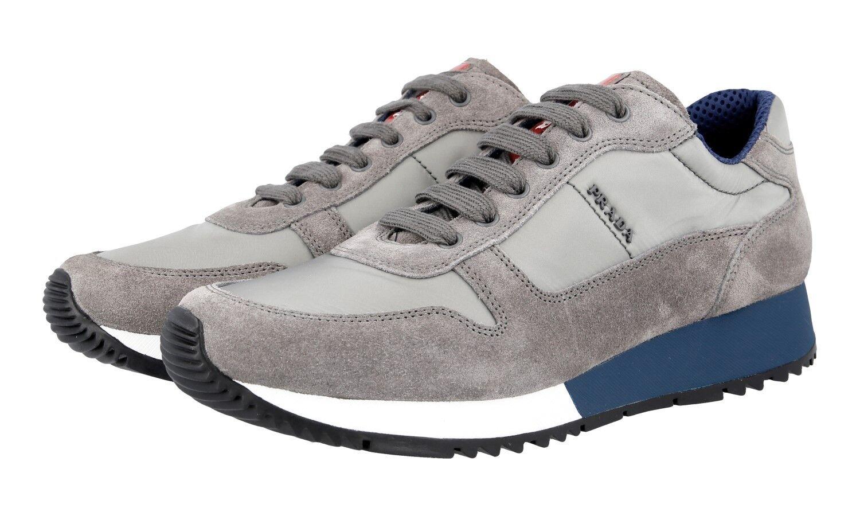 shoes PRADA LUSSO 3E5939 GHIAIA blueETTE NUOVE 39,5 40 UK 6.5