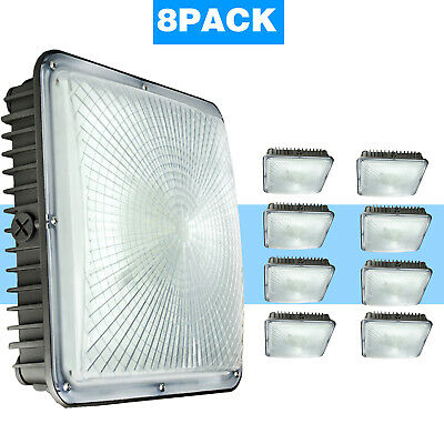 4 Pack 45W LED Gas Station Canopy Light 5500K Daylight Equivalent to 250W HID//MH