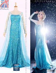 Mujer-Adulto-Frozen-Princesa-Reina-Elsa-Disfraz-Cosplay-Disfraz-COS002