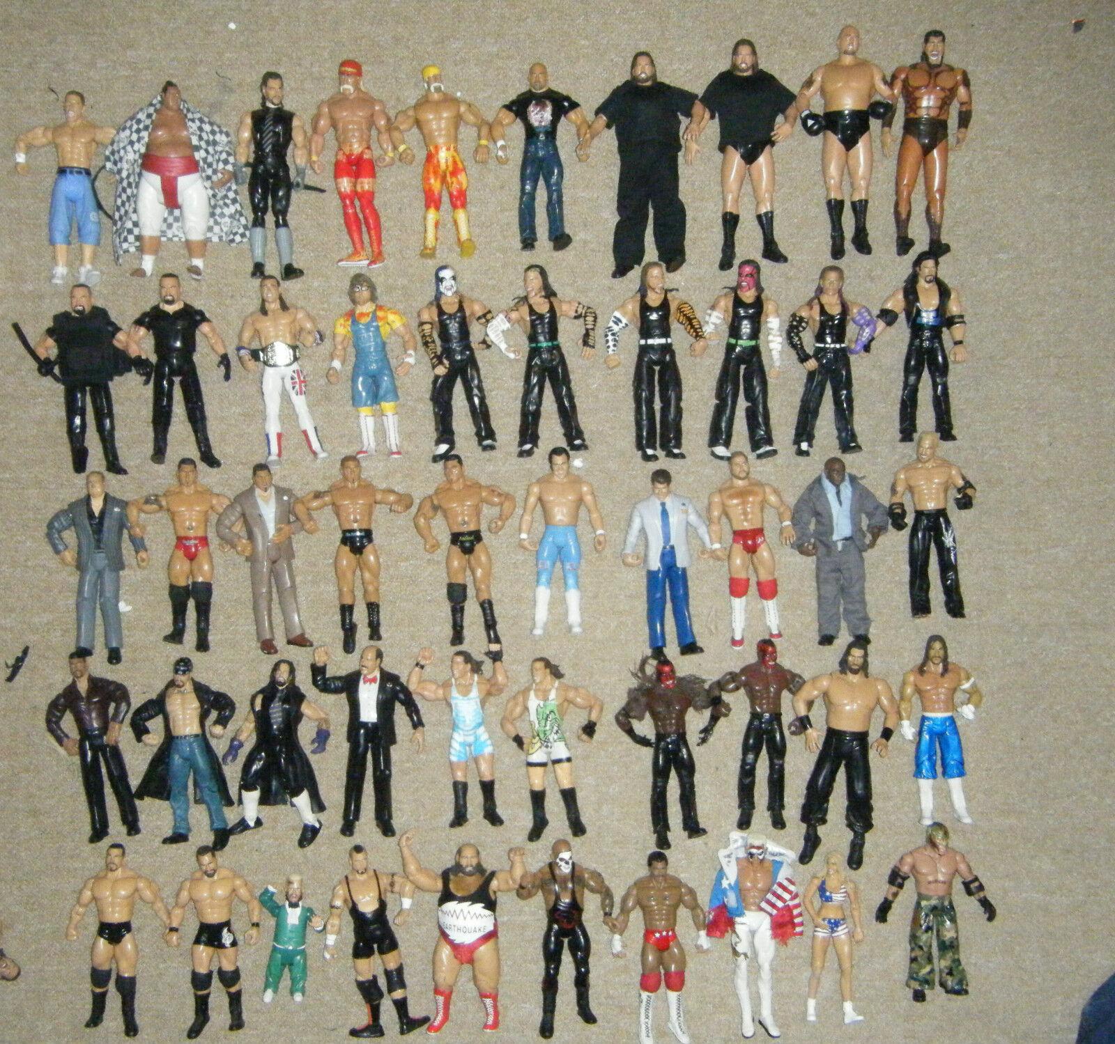 WWE WRESTLING ACTION FIGURE SERIES CLASSIC SERIES DELUXE TNA IMPACT MATTEL WWF