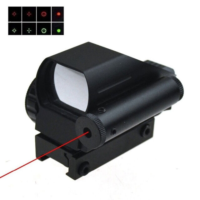 1x22x33 Holographic Reflex Red and Green Dot Laser Scope 4 Reticle Sight
