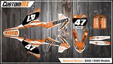 KTM SX50 kit de gráficos SX65 con números de encargo Etc-SX 50 65 2002-2016 Abstracto
