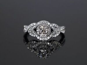 Image Is Loading Kay Jewelers 14k White Gold 1 00ct Round