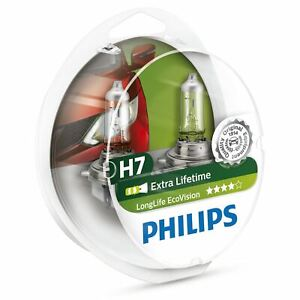 2x Philips EcoVision H7 12972 llecos 2 PX26d Longlife voiture ampoule de phare