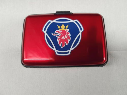 SCANIA STYLE HGV TRUCKER RFID DIGI CARD//LICENSE//CPC CARD//ADR CARD HOLDER IN RED