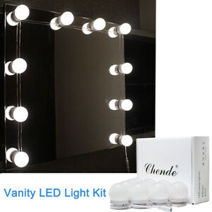 Hollywood Mirror Vanity Led Light Kit Beauty Makeup With 10 Bulbs
