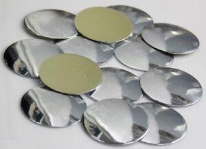 BORCHIA-Piatta-Tonda-22mm-15pz-argento-silver-tondo-scarpe-maglie-borchie-piatte