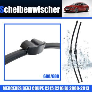 Escobillas-Limpiaparabrisas-Para-Mercedes-S-C215-C216-680-680mm-Wiper-2000-13