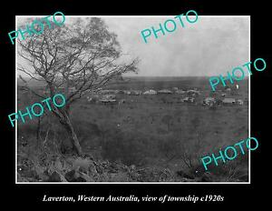 OLD-LARGE-HISTORIC-PHOTO-OF-LAVERTON-WESTERN-AUSTRALIA-VIEW-OF-TOWNSHIP-c1920