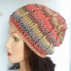 f92d8b863 Details about CROCHET SLOUCHY BEANIE HAT festival hippy baggy cowl scarf  gloves set 45 mitten