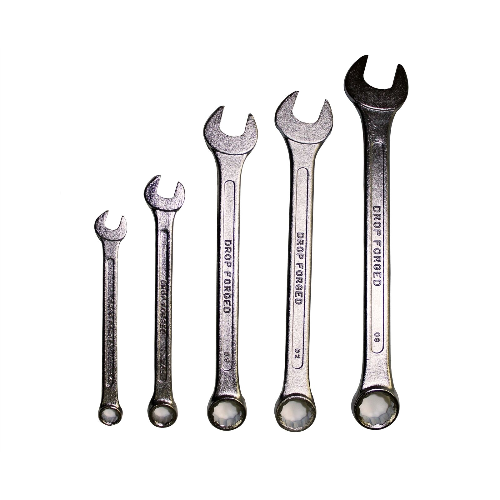 Craftright SPANNER SET 5 Pieces, 8, 10, 14, 15 & 18mm, Drop Forged, Heat Treated