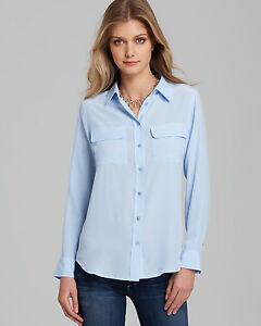 42c8ace671a8a9 NEW EQUIPMENT SILK BLOUSE WOMEN SLIM SIGNATURE Shirt Periwinkle blue ...