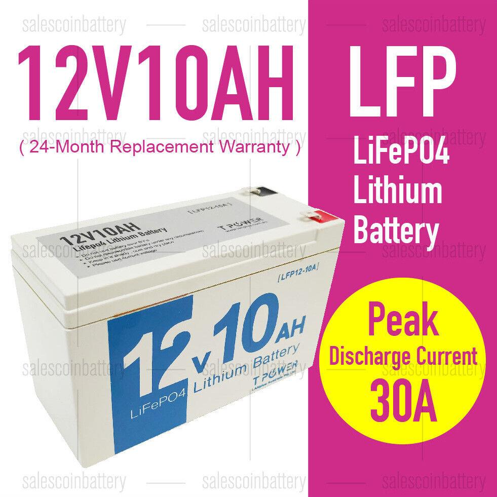 12V 10Ah LiFePO4 Lithium Rechargeable Battery Ultra Light > AGM 12v 7ah 12v7.2ah