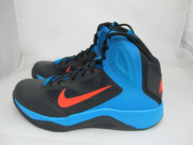 Nike Dual Fusion BB II Mens Black orange photo Blue High Top ... 5afa400a8bb9
