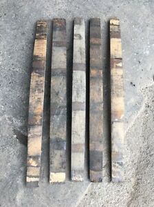 Genuine-Used-Retired-Whiskey-Barrel-Staves-Lot-of-5-Repurpose-Whisky-Bourbon