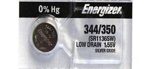 1-Fresh-ENERGIZER-344-350-SR1136SW-Silver-Oxide-Watch-Battery-1-55V-USA-Seller