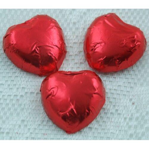 Red Luxury Swiss Milk Chocolate HeartsIdeal Wedding Favour Sweet
