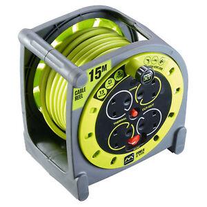 Masterplug-HMU15134SL-240v-PRO-XT-13amp-15m-4-Gang-Case-Cable-Reel-inc-Cutout