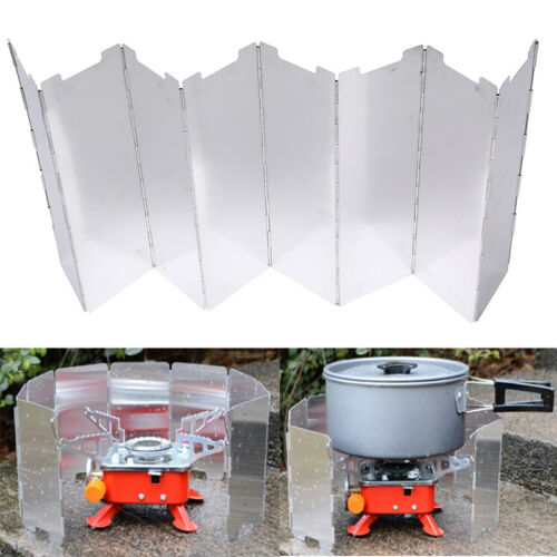 8 Plate Foldable Stove Windshield Outdoor Camping Cooking Gas Stove Wind Shie WH