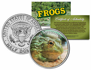 AFRICAN-BULLFROG-Collectible-Frogs-JFK-Kennedy-Half-Dollar-US-Colorized-Coin