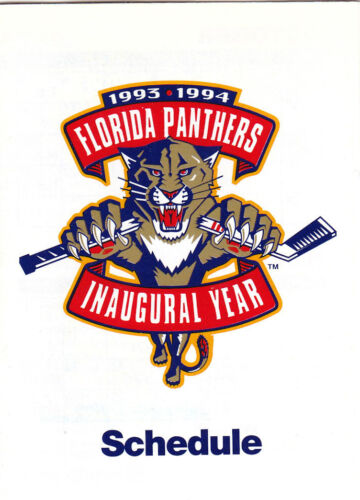 INAUGURAL YEAR 1993-94 FLORIDA PANTHERS HOCKEY POCKET SCHEDULE