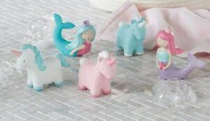 Mud Pie E1 Baby Girl Mermaids and Unicorns Play Time Bath Toys 5pc Set 12130027
