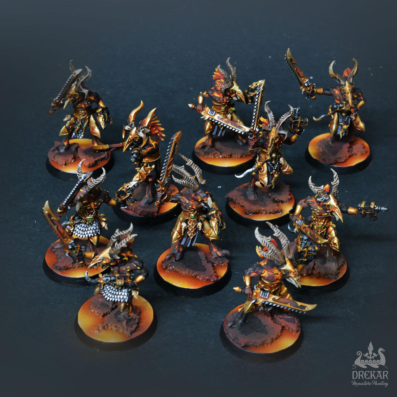 Tzaangors infernal 10men unidad Warhammer 40K   Comisión Pintura
