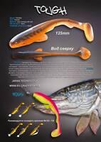 5 Leurres Souples Tough 5 Crazy Fish 12,5cm Pêche Brochet Sandre Silure Bar