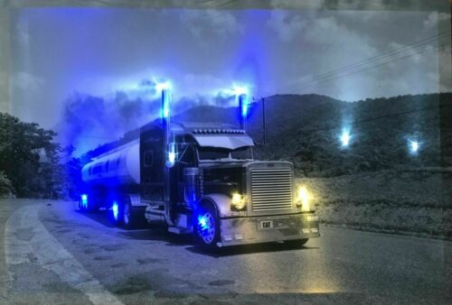 LED Bild mit Beleuchtung Wandbilder Leinwandbild led leucht bild Autos US Cars