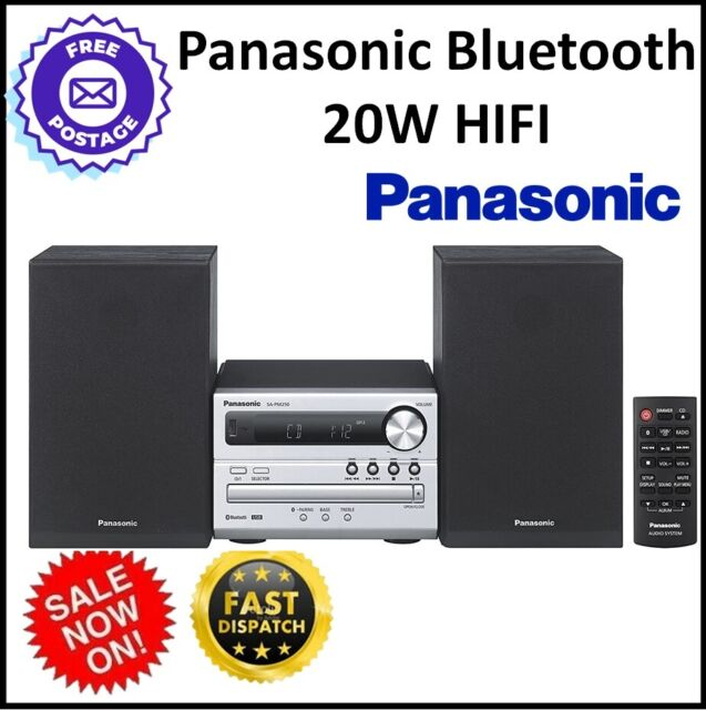 Panasonic Hi Fi CD Player AM FM Radio USB Bluetooth 2x Speaker Sound System NEW