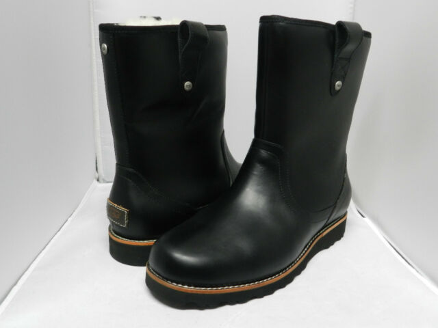 5ac9cc1a8a2 Men UGG Australia Stoneman Boot 3247 Black Leather 100% Authentic Brand New