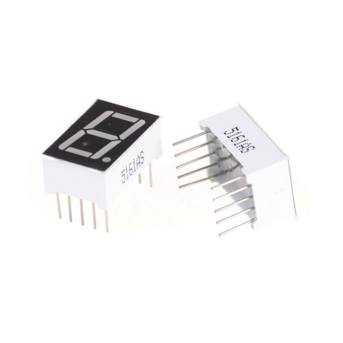 "5Pcs 0.56/"" Red LED Display Digital Tube Common Cathode 10 Pin 1 Bit 7 Segment"