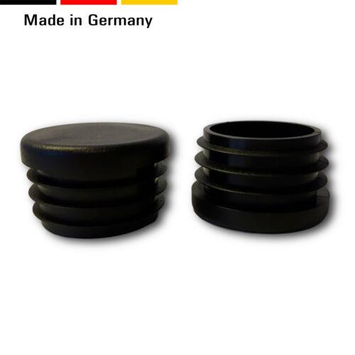 Black Flat Head 20 Chair Glider // Chair Glides//End Caps // Cover Round Pipes