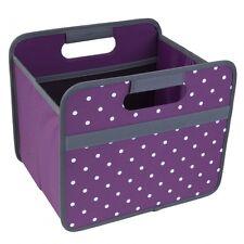 meori® 15L Box Lila Punkte Faltbox Transportkiste Einschubkorb für Ikea Kallax