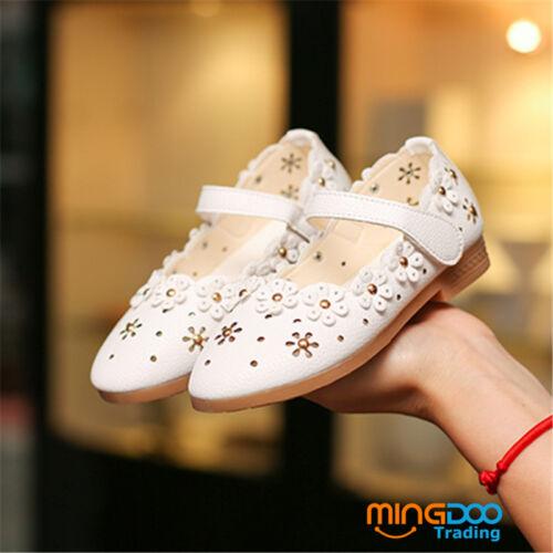 New Cute Children Kids Flats Girls Princess Shoes for Toddler Flower Soft Sole