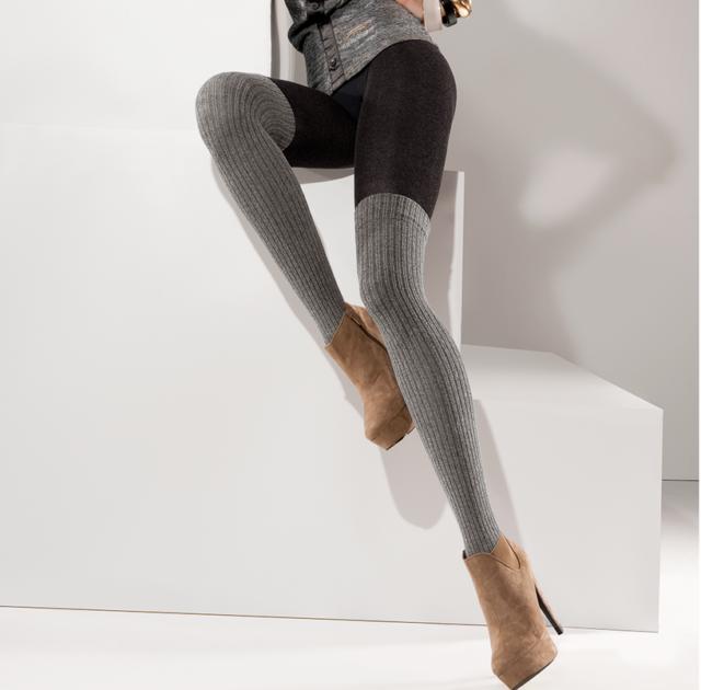 f759af4b830 Collants chaud coton femme opaque imitation bas Gabriella roxy T2