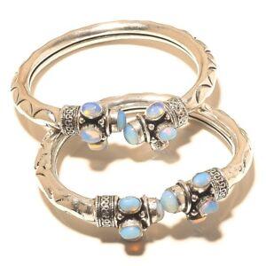 Bracelets Jewellery & Watches The Cheapest Price Silver Overlay Cuff Bracelet Bangel Fire Opal Handmade Jewelry